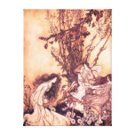 Dancing with Fairies Arthur Rackham Illustration Canvas Print