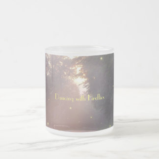 Dancing with Fireflies Frosted Glass Coffee Mug