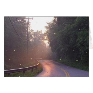 Dancing with Fireflies Greeting Card
