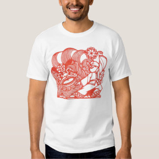 Dancing with lion t shirt