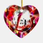 Dancing with music and color ceramic ornament
