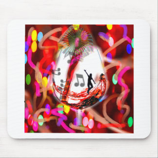Dancing with music and color mouse pad
