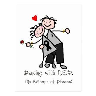 Dancing with N.E.D. - Black Ribbon Postcard
