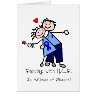Dancing with N.E.D. - Blue Ribbon Greeting Card