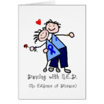 Dancing with N.E.D. - Blue Ribbon Cards