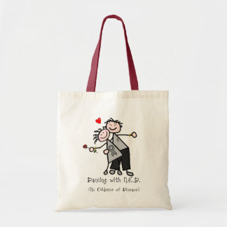 Dancing with N.E.D. - Brain Cancer / Tumor Tote Bag