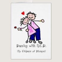Dancing with N.E.D. - Breast Cancer Pink Ribbon Card