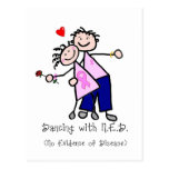 Dancing with N.E.D. - Breast Cancer Pink Ribbon Postcard