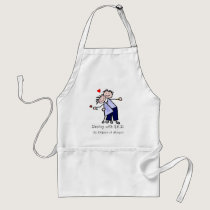 Dancing with N.E.D. - Cancer Lavender Ribbon Adult Apron