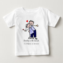 Dancing with N.E.D. - Cancer Lavender Ribbon Baby T-Shirt