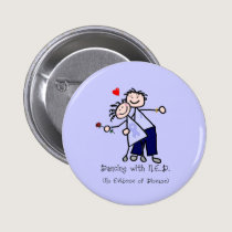 Dancing with N.E.D. - Cancer Lavender Ribbon Button