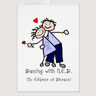 Dancing with N.E.D. - Cancer Lavender Ribbon Card