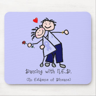 Dancing with N.E.D. - Cancer Lavender Ribbon Mouse Pad