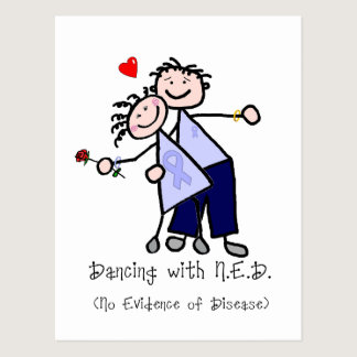Dancing with N.E.D. - Cancer Lavender Ribbon Postcard