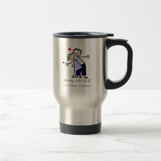 Dancing with N.E.D. - Cancer Lavender Ribbon Travel Mug