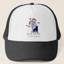 Dancing with N.E.D. - Cancer Lavender Ribbon Trucker Hat