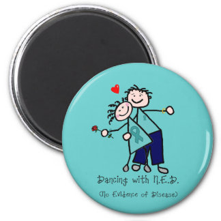 Dancing with N.E.D. Cervical Cancer 2 Inch Round Magnet