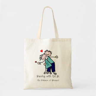 Dancing with N.E.D. Cervical Cancer Tote Bag