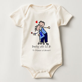 Dancing with N.E.D. - Colon Cancer Baby Bodysuit