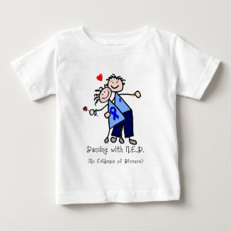 Dancing with N.E.D. - Colon Cancer Baby T-Shirt