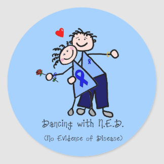 Dancing with N.E.D. - Colon Cancer Classic Round Sticker