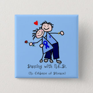 Dancing with N.E.D. - Colon Cancer Pinback Button