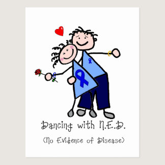 Dancing with N.E.D. - Colon Cancer Postcard