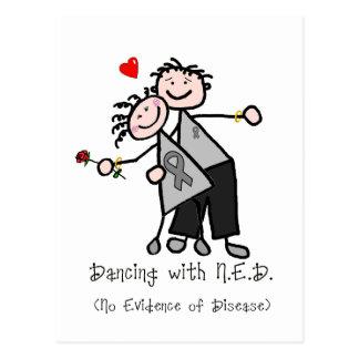 Dancing with N.E.D. - Grey Ribbon Postcard