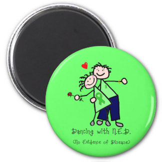 Dancing with N.E.D. - Kidney Cancer 2 Inch Round Magnet