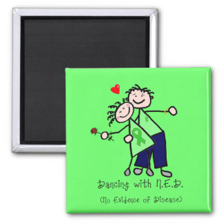 Dancing with N.E.D. - Kidney Cancer 2 Inch Square Magnet