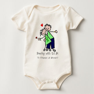 Dancing with N.E.D. - Kidney Cancer Baby Bodysuit