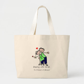 Dancing with N.E.D. - Kidney Cancer Large Tote Bag