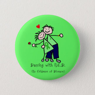 Dancing with N.E.D. - Kidney Cancer Pinback Button