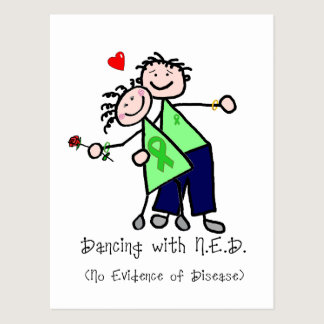 Dancing with N.E.D. - Kidney Cancer Postcard
