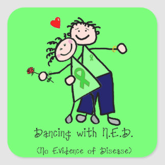 Dancing with N.E.D. - Kidney Cancer Square Sticker