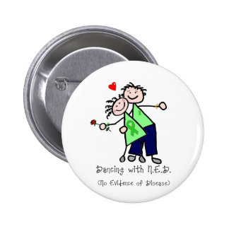 Dancing with N.E.D. - Liver Cancer Pinback Button