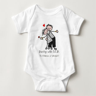 Dancing with N.E.D. - Lung Cancer Baby Bodysuit