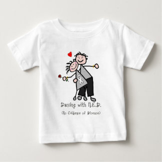 Dancing with N.E.D. - Lung Cancer Baby T-Shirt