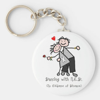Dancing with N.E.D. - Lung Cancer Basic Round Button Keychain