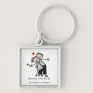 Dancing with N.E.D. - Lung Cancer Keychain