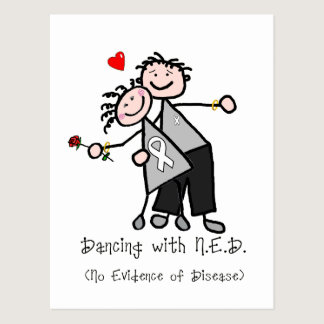 Dancing with N.E.D. - Lung Cancer Postcard