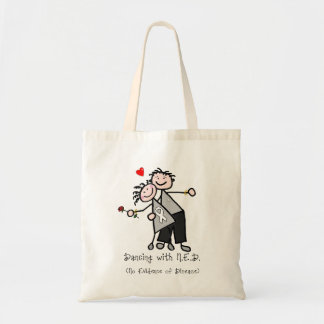Dancing with N.E.D. - Lung Cancer Tote Bag