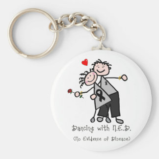 Dancing with N.E.D. - Melanoma Basic Round Button Keychain