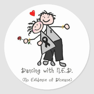 Dancing with N.E.D. - Melanoma Classic Round Sticker