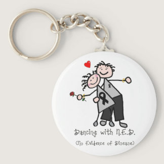 Dancing with N.E.D. - Melanoma Keychain