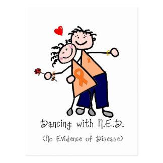 Dancing with N.E.D. - Orange Ribbon Postcard