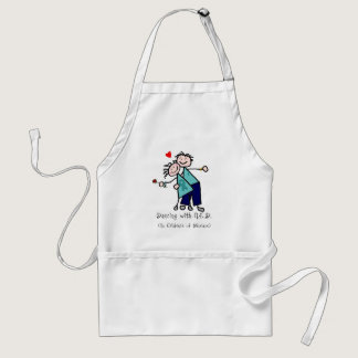 Dancing with N.E.D. Ovarian Cancer Adult Apron