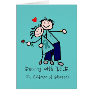 Dancing with N.E.D. Ovarian Cancer Card