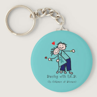 Dancing with N.E.D. Ovarian Cancer Keychain