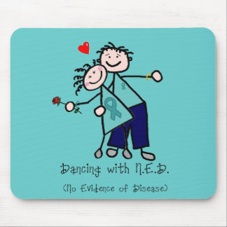 Dancing with N.E.D. Ovarian Cancer Mouse Pad
